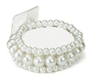 Bubble Bath Corsage Bracelet White
