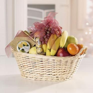 Fresh Fruit & Snack Gift Basket
