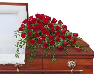 Simply Roses  Supreme Casket Spray - Half