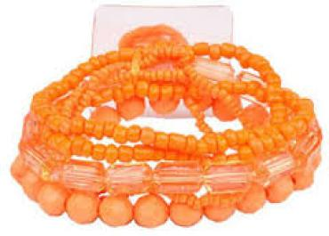 Potpourri Corsage Bracelet in Orange