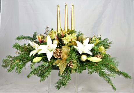 Gilded Christmas Centerpiece