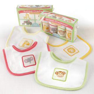Animal Crackers Bib Set