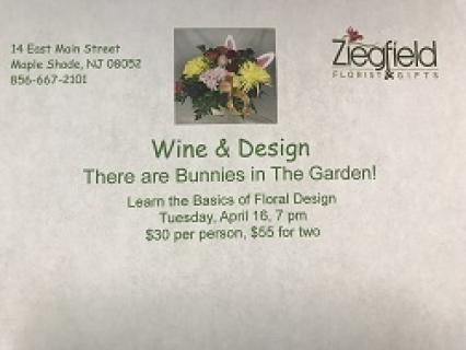 Wine & Design Workshop Tickets Wednesday, April 17