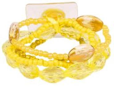 Potpourri Corsage Bracelet in Yellow