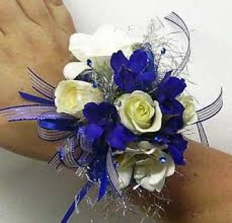 Bright and White Corsage