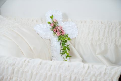 Cross Pillow Casket Insert