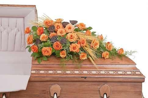 Fall Splendor Half Casket Spray